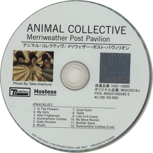 ANIMAL COLLECTIVE Merriweather Post Pavilion (2009 Japanese 12-track promotional CD for their eighth studio album release issued to radio stations and ...