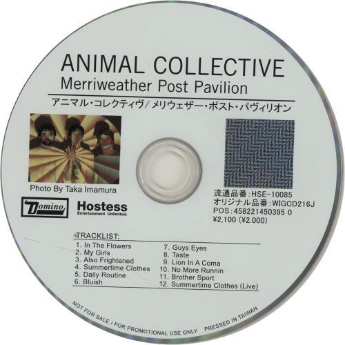 Animal Collective Merriweather Post Pavilion + PR CD album (CDLP) Japanese AN6CDME651959