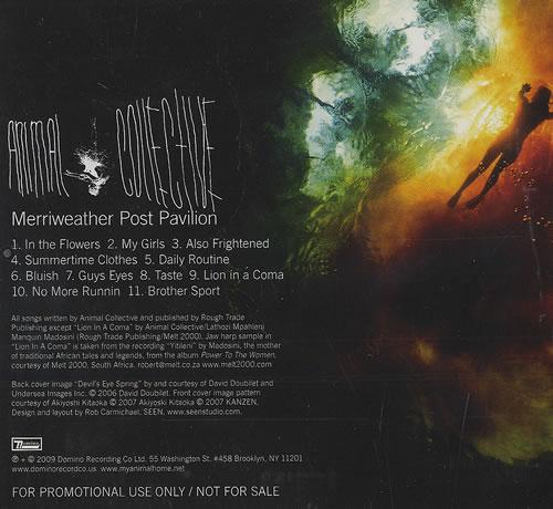 Animal Collective Merriweather Post Pavillion CD album (CDLP) US AN6CDME462076