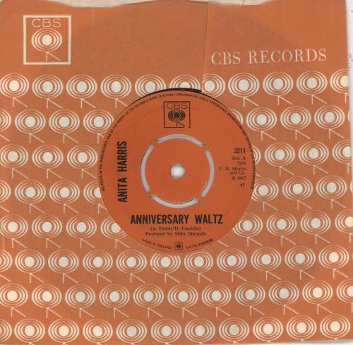 "Anita Harris Anniversary Waltz 7"" vinyl single (7 inch record) UK AHQ07AN736878"