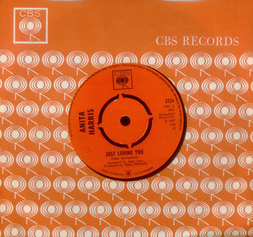 "Anita Harris Just Loving You 7"" vinyl single (7 inch record) UK AHQ07JU546288"
