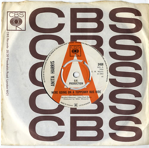 "Anita Harris We're Going On A Tuppenny Bus Ride 7"" vinyl single (7 inch record) UK AHQ07WE613393"