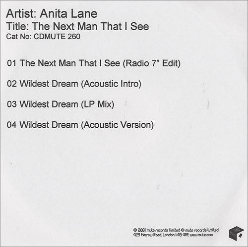 Anita Lane The Next Man That I See CD-R acetate UK ANLCRTH436752