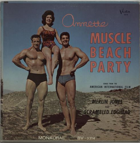 Annette Funicello Muscle Beach Party vinyl LP album (LP record) US AO5LPMU650806