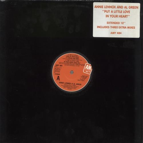 "Annie Lennox Put A Little Love In Your Heart - Stickered 12"" vinyl single (12 inch record / Maxi-single) UK ANN12PU719018"