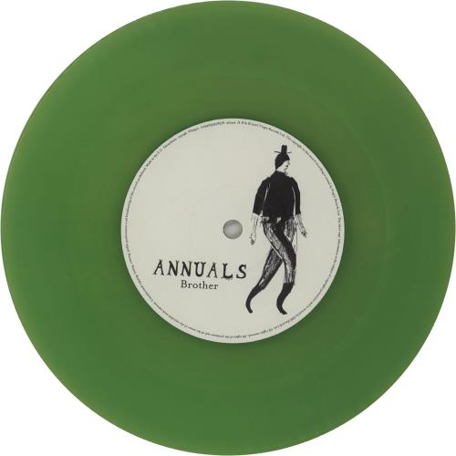"Annuals Brother - Green Vinyl 7"" vinyl single (7 inch record) UK QWN07BR751088"