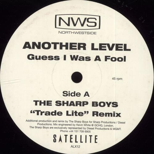"Another Level Guess I Was A Fool 12"" vinyl single (12 inch record / Maxi-single) UK ANV12GU123895"