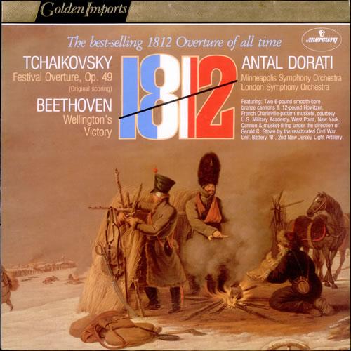Antal Dorati 1812 Festival Overture, Op. 49 (Original Scoring) / Wellington's Victory vinyl LP album (LP record) Dutch QNZLPFE525136