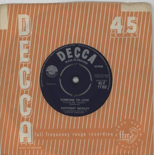"""Anthony Newley Someone To Love - 4 Pr 7"""" vinyl single (7 inch record) UK AN307SO672880"""