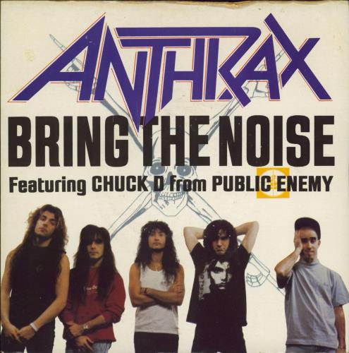 """Anthrax Bring The Noise - Etched 7"""" vinyl single (7 inch record) UK ANX07BR770434"""