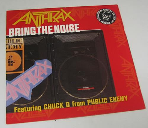 """Anthrax Bring The Noise - P/S 10"""" Vinyl Picture Disc (10"""" Record Single) UK ANX1PBR103992"""