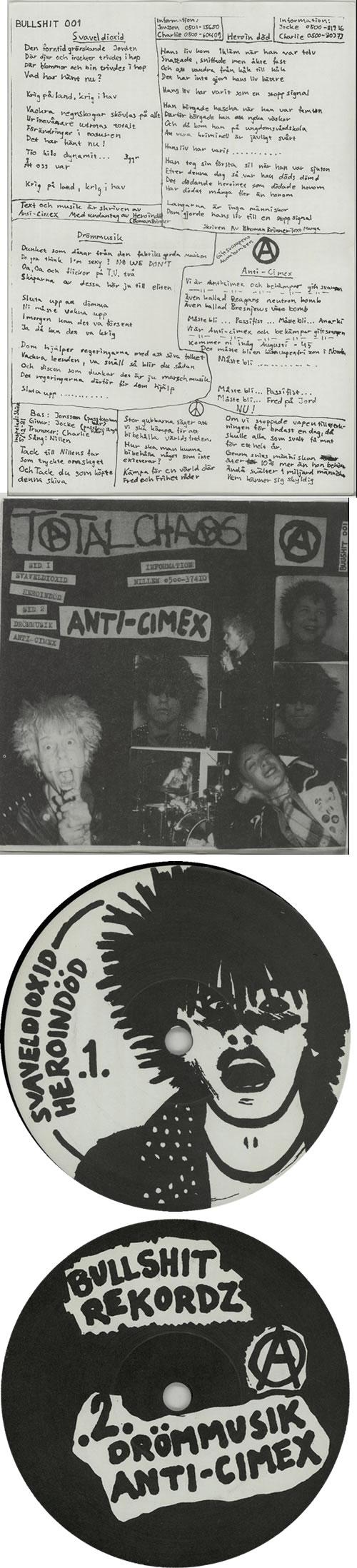 "Anti-Cimex Anti-Cimex-EP: Anarkist Attack 7"" vinyl single (7 inch record) Swedish H4807AN638724"