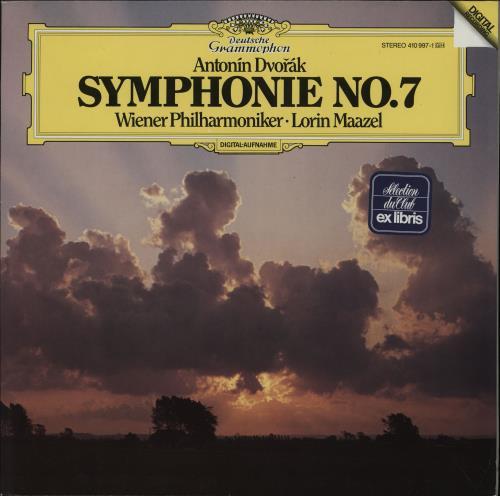 Antonín Dvorák Symphonie No. 7 vinyl LP album (LP record) German DDQLPSY753218
