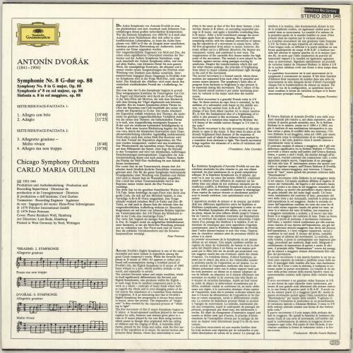 Antonín Dvorák Symphonie Nr. 8 vinyl LP album (LP record) German DDQLPSY712818