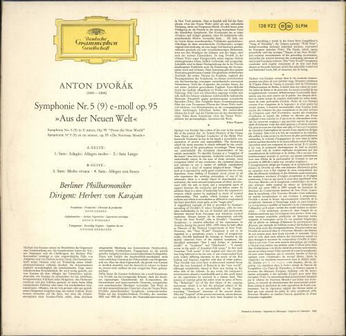 "Antonín Dvorák Symphony No. 5 ""From The New World"" vinyl LP album (LP record) German DDQLPSY746395"