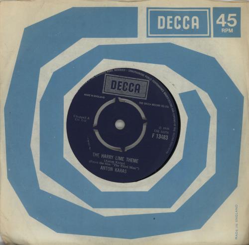 "Anton Karas The Harry Lime Theme 7"" vinyl single (7 inch record) UK A6U07TH646530"