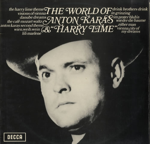 Anton Karas The World Of Anton Karas & 'Harry Lime' vinyl LP album (LP record) UK A6ULPTH564817