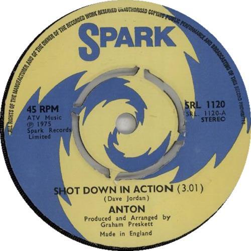 "Anton Shot Down In Action - 4 Prong 7"" vinyl single (7 inch record) UK H8Y07SH646143"