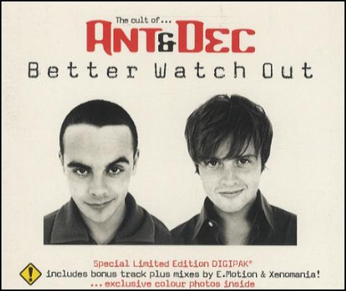 """Ant & Dec Better Watch Out CD single (CD5 / 5"""") UK A&DC5BE268059"""