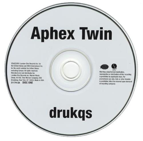 Aphex Twin Drukqs Us Promo 2 Cd Album Set Double Cd 203506