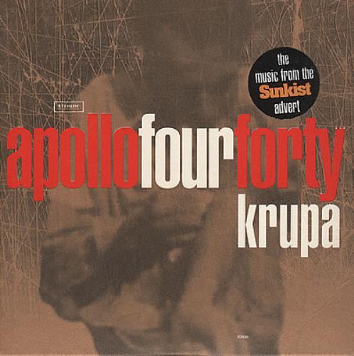 "Apollo 440 Krupa CD single (CD5 / 5"") UK A44C5KR74544"