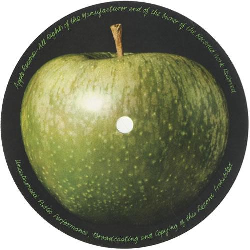 Apple Label Pair Of Unused Lp Labels Uk Memorabilia