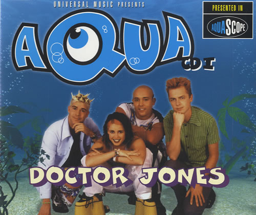 """Aqua Doctor Jones CD single (CD5 / 5"""") UK AQUC5DO156883"""