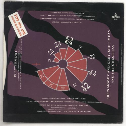"Arcadia Election Day -Factory Sample 7"" vinyl single (7 inch record) UK ARC07EL739830"
