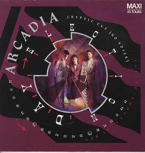 "Arcadia Election Day Cryptic Cut ( No Voice ) 12"" vinyl single (12 inch record / Maxi-single) French ARC12EL91908"