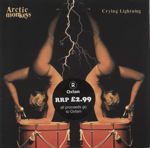 "Arctic Monkeys Crying Lightning 7"" vinyl single (7 inch record) UK MEO07CR728496"