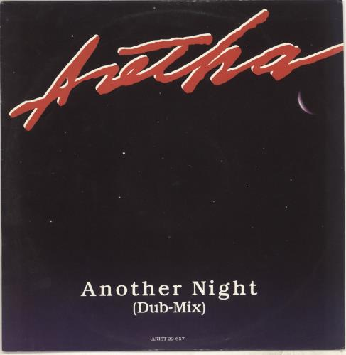 "Aretha Franklin Another Night 12"" vinyl single (12 inch record / Maxi-single) UK ARE12AN708211"