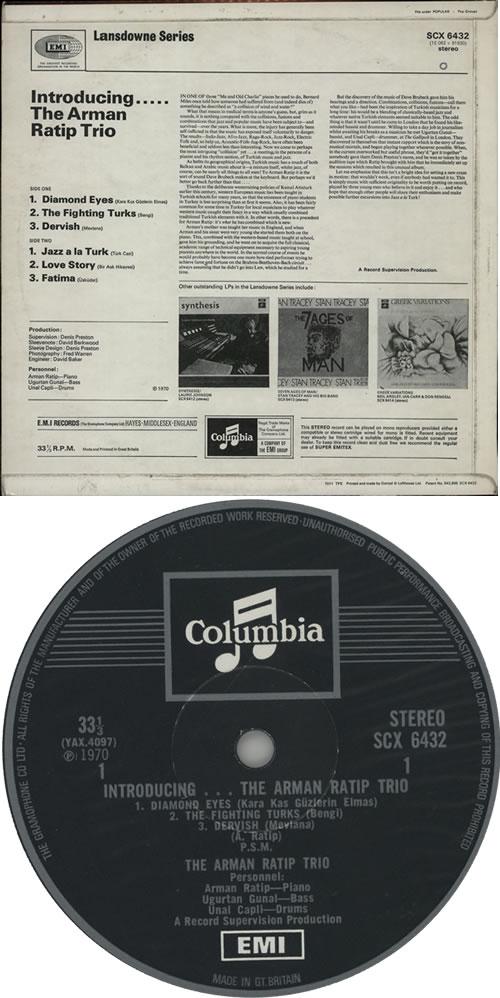Arman Ratip Introducing vinyl LP album (LP record) UK A8MLPIN631101