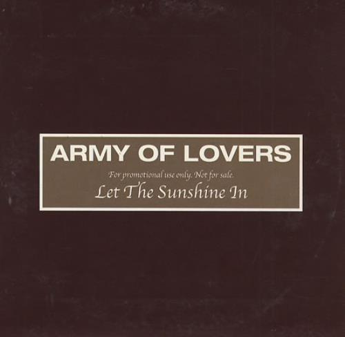 """Army Of Lovers Let The Sunshine In CD single (CD5 / 5"""") Swedish AOLC5LE180584"""