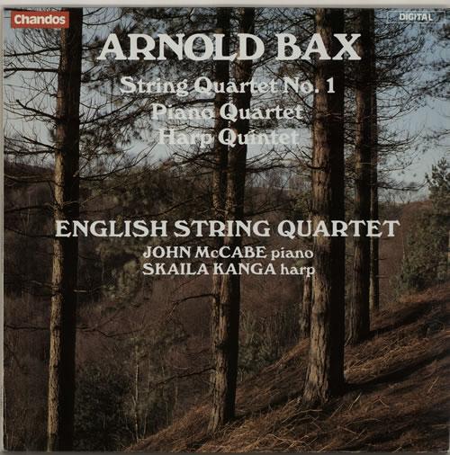 Arnold Bax String Quartet No. 1 / Piano Quartet / Harp Quintet vinyl LP album (LP record) UK B1OLPST630786
