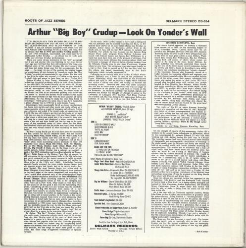 Arthur 'Big Boy' Crudup Look On Yonder's Wall UK vinyl LP album (LP record)
