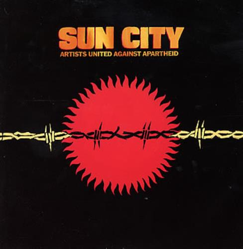 "Artists United Against Aparthe Sun City + Sleeve 12"" vinyl single (12 inch record / Maxi-single) UK AAA12SU86544"