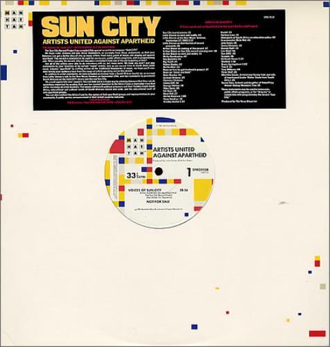 Artists United Against Aparthe Sun City vinyl LP album (LP record) US AAALPSU141291