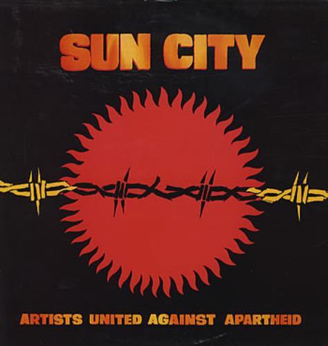 Artists United Against Aparthe Sun City vinyl LP album (LP record) UK AAALPSU303265