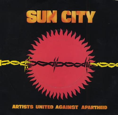 "Artists United Against Aparthe Sun City 7"" vinyl single (7 inch record) US AAA07SU401728"