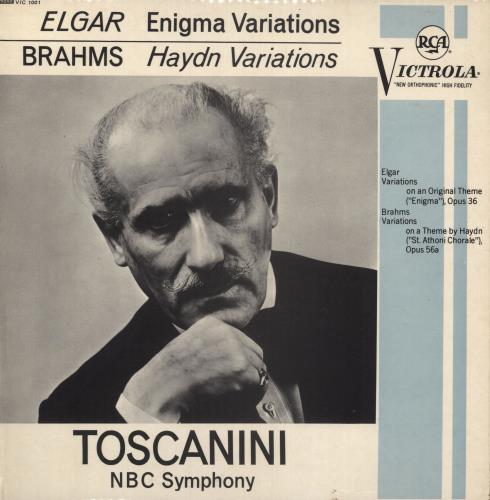 Arturo Toscanini Elgar: Enigma Variations, Op. 36 / Brahms: Variations On A Theme By Haydn vinyl LP album (LP record) UK A35LPEL651368