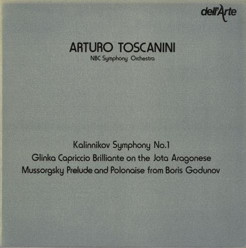 Arturo Toscanini Kalinnikov: Symphony No.1 / Glinka: Capriccio Brilliante / Mussorgsky: Prelude And Polonaise vinyl LP album (LP record) UK A35LPKA757503