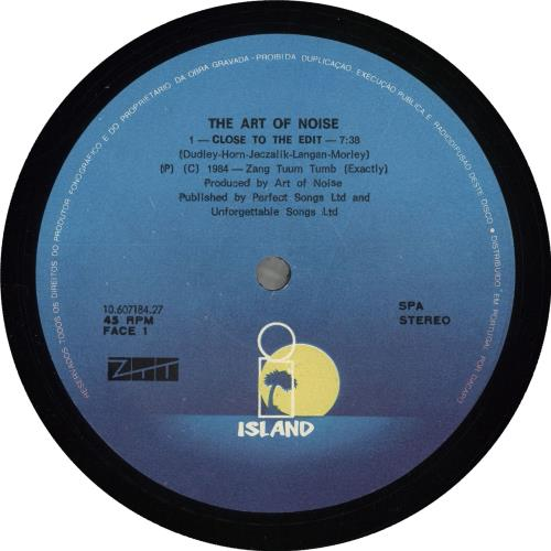"""Art Of Noise Close-Up 12"""" vinyl single (12 inch record / Maxi-single) Portugese AON12CL719329"""