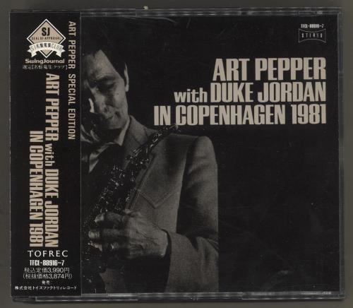 Art Pepper With Duke Jordan In Copenhagen 1981 2 CD album set (Double CD) Japanese A/P2CWI549241