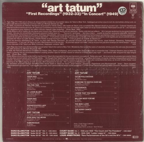 """Art Tatum """"First Recordings"""" (1932-33) / """"In Concert"""" (1949) vinyl LP album (LP record) Dutch AT4LPFI726180"""