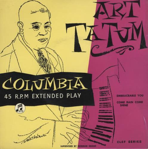 "Art Tatum Embraceable You EP 7"" vinyl single (7 inch record) UK AT407EM376440"