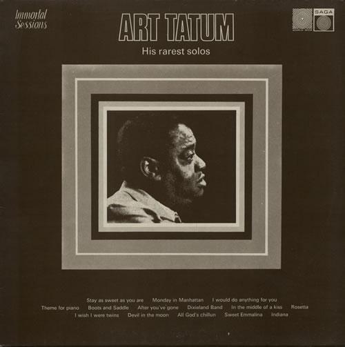 Art Tatum His Rarest Solos vinyl LP album (LP record) UK AT4LPHI578107