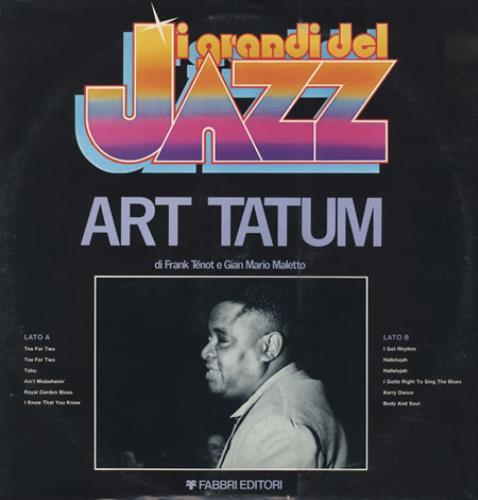 Art Tatum I Grandi Del Jazz #56 vinyl LP album (LP record) Italian AT4LPIG404679