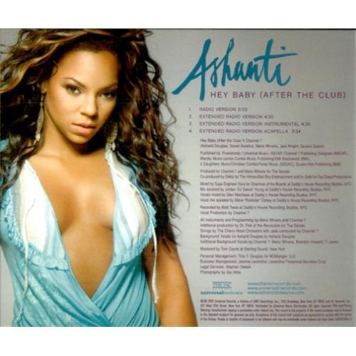 "Ashanti Hey Baby (After The Club) CD single (CD5 / 5"") US AHIC5HE418892"