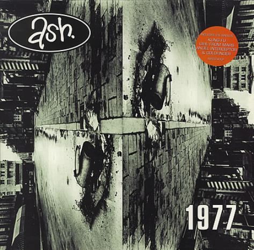 Ash 1977 - Nineteen Seventy Seven - Stickered sleeve vinyl LP album (LP record) UK A-SLPNI405372