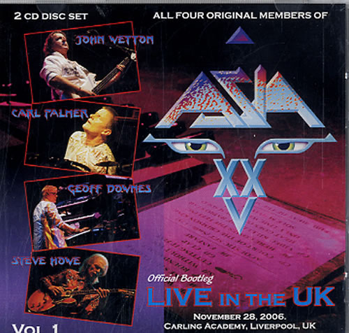 Asia Official Bootleg: Live In The UK - Volume 1-3 UK CD-R acetate